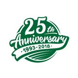 25 years anniversary design template. Vector and illustration. 25th logo. royalty free illustration