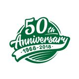50 years anniversary design template. Vector and illustration. 50th logo. 50 years anniversary design template. 50 years vector and illustration. 50th logo vector illustration