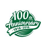 100 years anniversary design template. Vector and illustration. 100th logo. 100 years anniversary design template. 100 years vector and illustration. 100th logo vector illustration