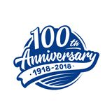 100 years anniversary design template. Vector and illustration. 100th logo. 100 years anniversary design template. 100 years vector and illustration. 100th logo stock illustration