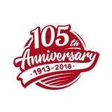 105 years anniversary design template. Vector and illustration. 105th logo. 105 years anniversary design template. 105 years vector and illustration. 105th logo royalty free illustration