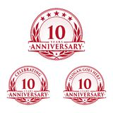 10 years anniversary design template. Anniversary vector and illustration. 10th logo. 10 years anniversary design template. 10 years celebrating vector and royalty free illustration