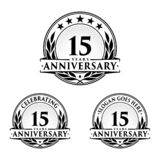 15 years anniversary design template. Anniversary vector and illustration. 15th logo. 15 years anniversary design template. 15 years celebrating vector and royalty free illustration