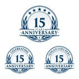 15 years anniversary design template. Anniversary vector and illustration. 15th logo. 15 years anniversary design template. 15 years celebrating vector and stock illustration