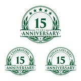 15 years anniversary design template. Anniversary vector and illustration. 15th logo. 15 years anniversary design template. 15 years celebrating vector and vector illustration