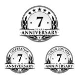 7 years anniversary design template. Anniversary vector and illustration. 7th logo. 7 years anniversary design template. Seven years celebrating vector and vector illustration