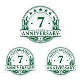 7 years anniversary design template. Anniversary vector and illustration. 7th logo. 7 years anniversary design template. Seven years celebrating vector and stock illustration