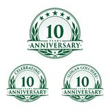 10 years anniversary design template. Anniversary vector and illustration. 10th logo. 10 years anniversary design template. 10 years celebrating vector and stock illustration