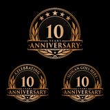 10 years anniversary design template. Anniversary vector and illustration. 10th logo. 10 years anniversary design template. 10 years celebrating vector and vector illustration