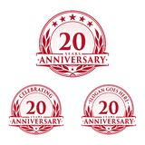 20 years anniversary design template. Anniversary vector and illustration. 20th logo. 20 years anniversary design template. 20 years celebrating vector and vector illustration
