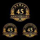 45 years anniversary design template. Anniversary vector and illustration. 45th logo. 45 years anniversary design template. 45 years celebrating vector and vector illustration