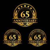 65 years anniversary design template. Anniversary vector and illustration. 65th logo. 65 years anniversary design template. 65 years celebrating vector and vector illustration
