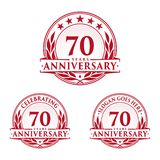 70 years anniversary design template. Anniversary vector and illustration. 70th logo. 70 years anniversary design template. 70 years celebrating vector and royalty free illustration