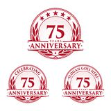75 years anniversary design template. Anniversary vector and illustration. 75th logo. 75 years anniversary design template. 75 years celebrating vector and royalty free illustration