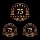 75 years anniversary design template. Anniversary vector and illustration. 75th logo. 75 years anniversary design template. 75 years celebrating vector and stock illustration
