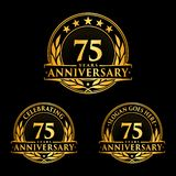75 years anniversary design template. Anniversary vector and illustration. 75th logo. 75 years anniversary design template. 75 years celebrating vector and vector illustration