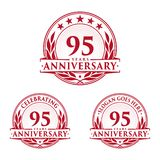 95 years anniversary design template. Anniversary vector and illustration. 95th logo. 95 years anniversary design template. 95 years celebrating vector and vector illustration