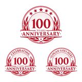 100 years anniversary design template. Anniversary vector and illustration. 100th logo. 100 years anniversary design template. 100 years celebrating vector and royalty free illustration