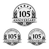 105 years anniversary design template. Anniversary vector and illustration. 105th logo. 105 years anniversary design template. 105 years celebrating vector and stock illustration