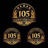 105 years anniversary design template. Anniversary vector and illustration. 105th logo. 105 years anniversary design template. 105 years celebrating vector and royalty free illustration