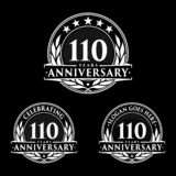 110 years anniversary design template. Anniversary vector and illustration. 110th logo. 110 years anniversary design template. 110 years celebrating vector and vector illustration