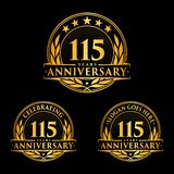 115 years anniversary design template. Anniversary vector and illustration. 115th logo. 115 years anniversary design template. 115 years celebrating vector and stock illustration