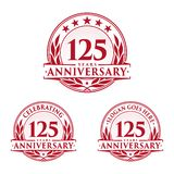 125 years anniversary design template. Anniversary vector and illustration. 125th logo. 125 years anniversary design template. 125 years celebrating vector and stock illustration