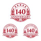 140 years anniversary design template. Anniversary vector and illustration. 140th logo. 140 years anniversary design template. 140 years celebrating vector and royalty free illustration