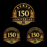 150 years anniversary design template. Anniversary vector and illustration. 150th logo. 150 years anniversary design template. 150 years celebrating vector and vector illustration