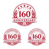 160 years anniversary design template. Anniversary vector and illustration. 160th logo. 160 years anniversary design template. 160 years celebrating vector and stock illustration