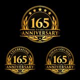165 years anniversary design template. Anniversary vector and illustration. 165th logo. 165 years anniversary design template. 165 years celebrating vector and royalty free illustration