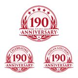 190 years anniversary design template. Anniversary vector and illustration. 190th logo. 190 years anniversary design template. 190 years celebrating vector and stock illustration