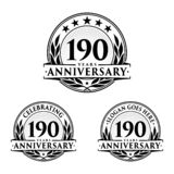 190 years anniversary design template. Anniversary vector and illustration. 190th logo. 190 years anniversary design template. 190 years celebrating vector and vector illustration