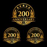 200 years anniversary design template. Anniversary vector and illustration. 200th logo. 200 years anniversary design template. 200 years celebrating vector and stock illustration