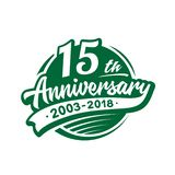 15 years anniversary design template. Vector and illustration. 15th logo. 15 years anniversary design template. 15 years vector and illustration. 15th logo vector illustration