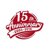 15 years anniversary design template. Vector and illustration. 15th logo. 15 years anniversary design template. 15 years vector and illustration. 15th logo royalty free illustration