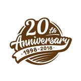 20 years anniversary design template. Vector and illustration. 20th logo. 20 years anniversary design template. 20 years vector and illustration. 20th logo vector illustration