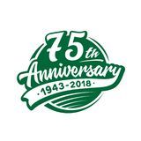 75 years anniversary design template. Vector and illustration. 75th logo. 75 years anniversary design template. 75 years vector and illustration. 75th logo stock illustration