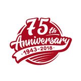 75 years anniversary design template. Vector and illustration. 75th logo. 75 years anniversary design template. 75 years vector and illustration. 75th logo royalty free illustration