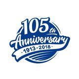 105 years anniversary design template. Vector and illustration. 105th logo. 105 years anniversary design template. 105 years vector and illustration. 105th logo vector illustration