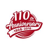 110 years anniversary design template. Vector and illustration. 110th logo. 110 years anniversary design template. 110 years vector and illustration. 110th logo stock illustration