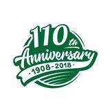 110 years anniversary design template. Vector and illustration. 110th logo. 110 years anniversary design template. 110 years vector and illustration. 110th logo royalty free illustration