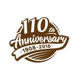 110 years anniversary design template. Vector and illustration. 110th logo. 110 years anniversary design template. 110 years vector and illustration. 110th logo vector illustration