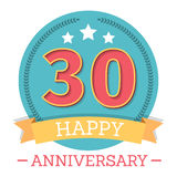 30 Years Anniversary Emblem Stock Photos