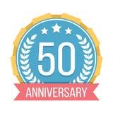 50 Years Anniversary Emblem. On white background Royalty Free Illustration