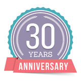 30 Years Anniversary Emblem Royalty Free Stock Photography