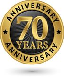 70 years anniversary gold label, vector illustration. 70 years anniversary gold label, vector vector illustration