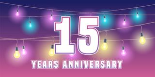 15 years anniversary  icon, banner Royalty Free Stock Photos