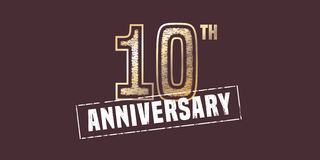 10 years anniversary  icon, logo Stock Photo