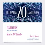 20 years anniversary invitation vector illustration, design element. 20 years anniversary invitation vector illustration. Design element with bright abstract Stock Illustration
